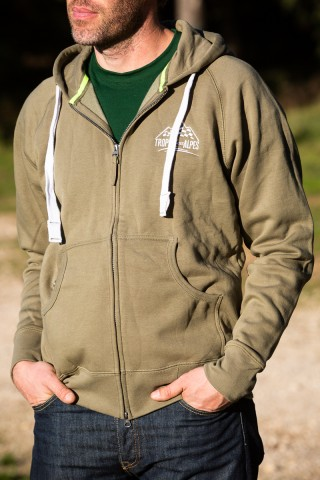 Olive Green Hooded Sweatshirt